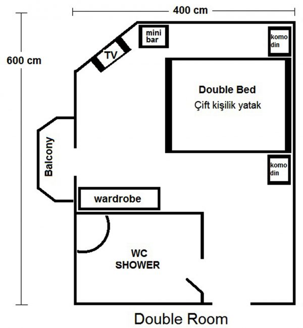 Double Room Sizes